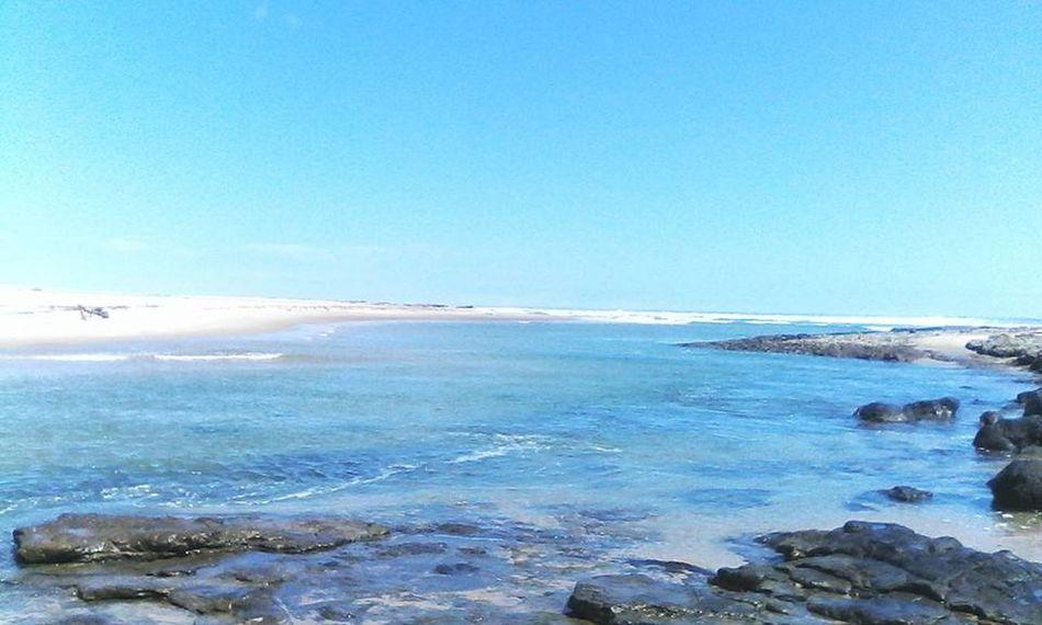 Clear Sky Nature No People Outdoors Rocks Sea Whitesand