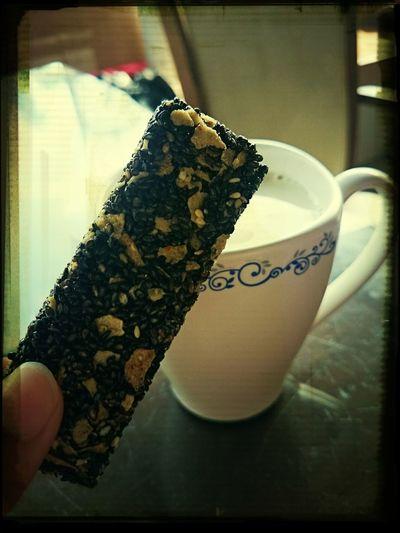 Soy Milk, black Sesame &cereal barCe Milkbreakfast ♥ Healthy Breakfast My Breakfast