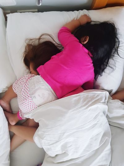 motherhood is ♡♡♡ Sleeping Baby Mother & Daughter The Week on EyeEm Eyeem Philippines Pink Human Hand Low Section Young Women Bedroom Domestic Life Pink Color Cleaning Women Human Leg Close-up Foot