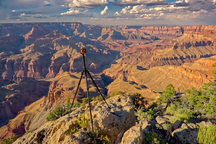 A camera tripod