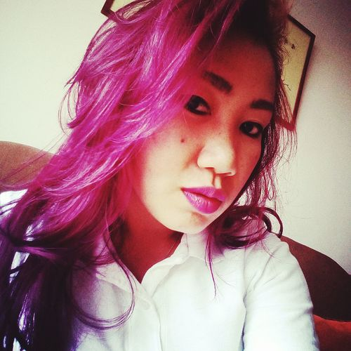 My New Haircut Newcolor Ombrehair Purplehair Pink Hair