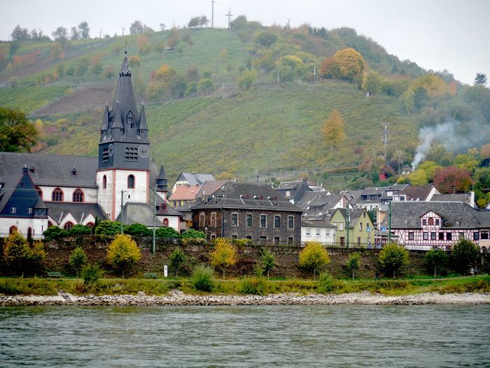 River with church in background
