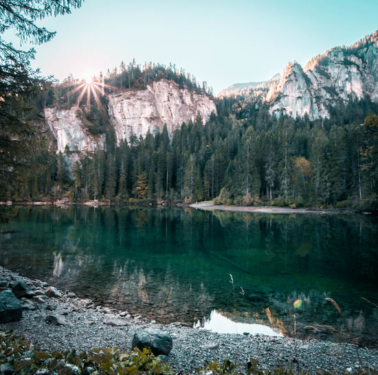 Sun, wake up! Water Tree Tranquil Scene Mountain Scenics Lake Tranquility Beauty In Nature Nature Reflection Majestic Non-urban Scene Dolomites, Italy Dolomiti Italy Trentino  Trentino Alto Adige