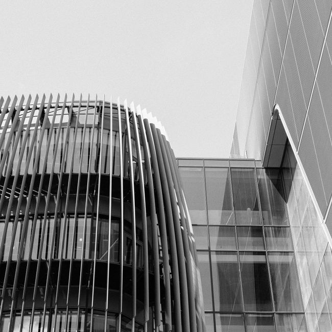 Architectural Feature Architecture Building Built Structure City Day Development Exterior Low Angle View Modern No People Office Building Outdoors Repetition Sky Tall - High
