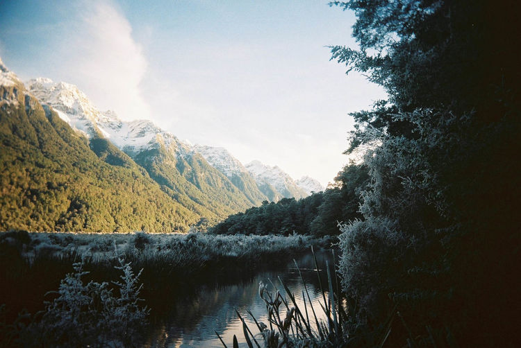 Film SuperHeadz Beauty In Nature Day Lake Landscape Mountain Nature New Zealand No People Outdoors Reflection Scenics Sky Tranquil Scene Tranquility Tree Water Waterfront