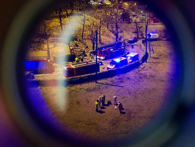 Through the looking glass. Circle Night Dolls BYOPaper! IPhone EyeEmNewHere Miniatures Ambulance Streetlights Exhibition Urban Scenes Container Cars Figurines