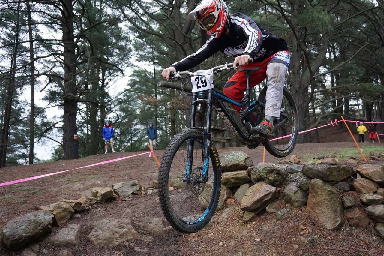 bicycle, cycling, mountain bike, cycling helmet, transportation, riding, bmx cycling, adventure, headwear, helmet, sports helmet, mode of transport, risk, sport, speed, motion, exercising, stunt, leisure activity, sports track, tire, extreme sports, challenge, vitality, tree, skill, danger, sports clothing, outdoors, sportsman, day, effort, activity, nature, full length, wheel, sports race, forest, competition, agility, lifestyles, two people, people, men, pedal, young women, biker, young adult, motocross, competitive sport, adult, athlete, stunt person, adults only