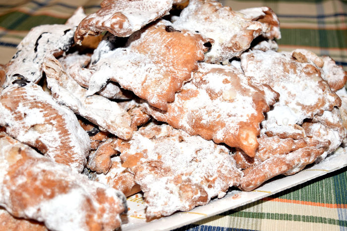 Italian's chiacchere sweets Carnival Chiacchere Delicious Dessert Fried Party Pastry Suga Sweets Tradition Typical