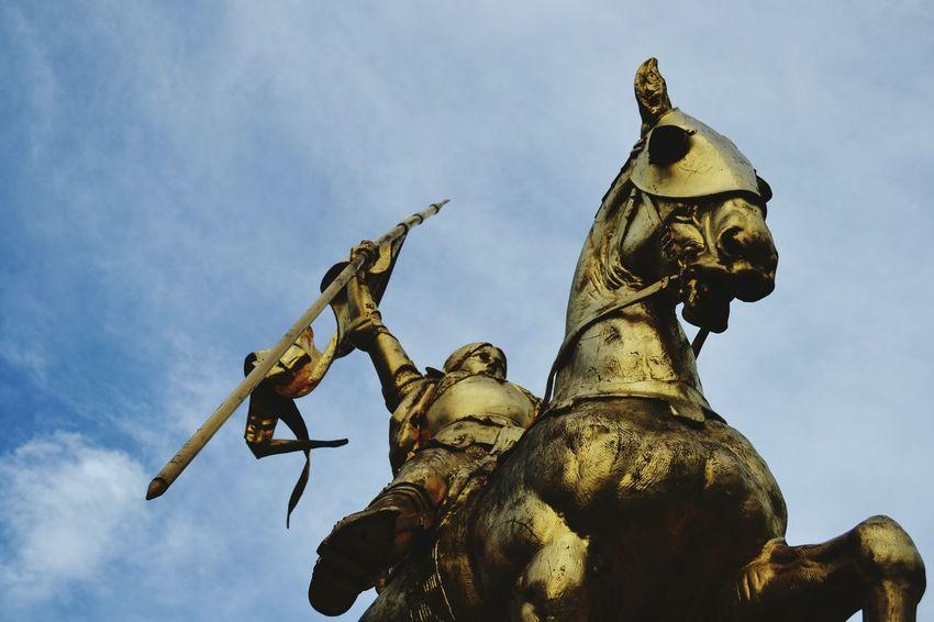Statue Sculpture Outdoors Cloud - Sky No People Day Sky Joan Of Arc Jeanne D'arc Paris Paris, France  Gold Victory Bravery