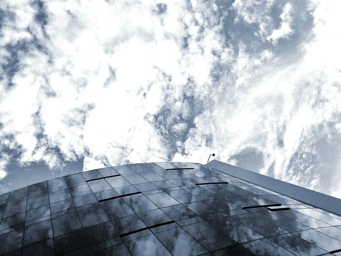 The Architect - 2014 EyeEm Awards Contrast Reflection Clouds Sky Clouds And Sky Skylight Architecture Light And Shadow Detail