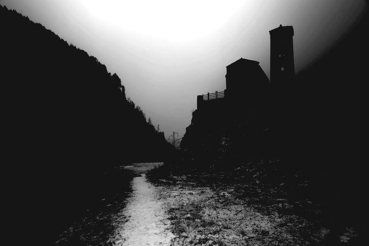 Darkness And Light ProCamera - Shots Of The Year 2014 Winter Wonderland Blackandwhite Andorra Deepfreeze