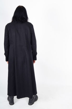 Back Side Black Coat Black Hair Full Length Gothic Style Introvert Long Black Coat Long Coat Looking At The Back Man Alone No Face No Hope Sad Sad & Lonely Shy Tall Man