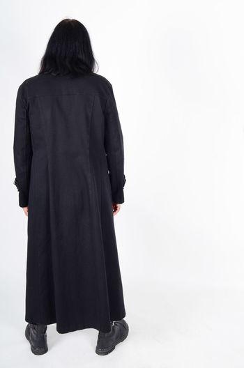 Back Side Black Coat Black Hair Full Length Gothic Style Introvert Long Black Coat Long Coat Looking At The Back Man Alone No Face No Hope Sad Sad & Lonely Shy Tall Man