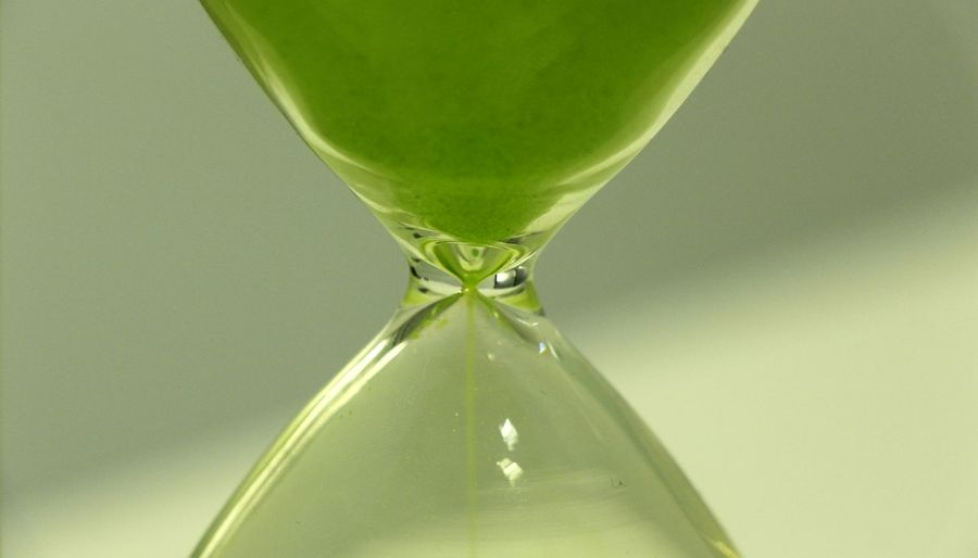 Close-Up Of Green Hourglass