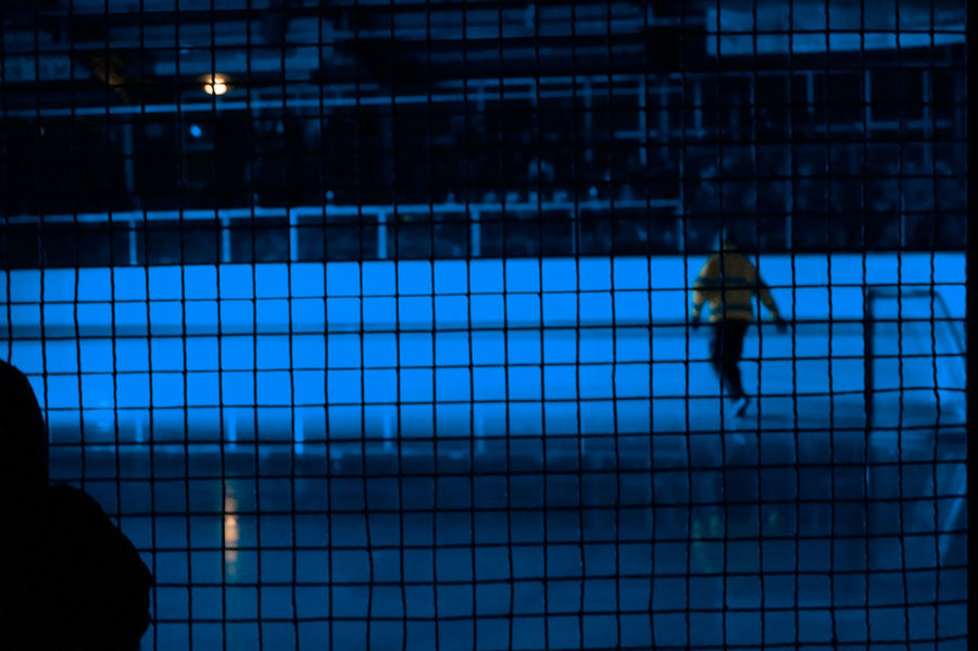 Adult Adults Only Day Hockey Icehockey Illuminated Indoors  Leisure Activity One Person People Real People The City Light