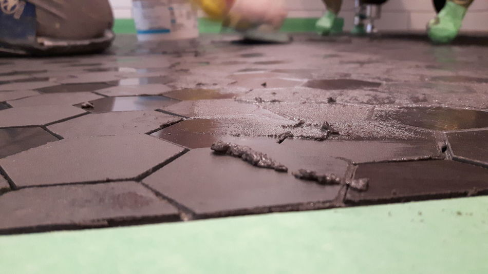 Grout Tiled Floor Shower Pan Work