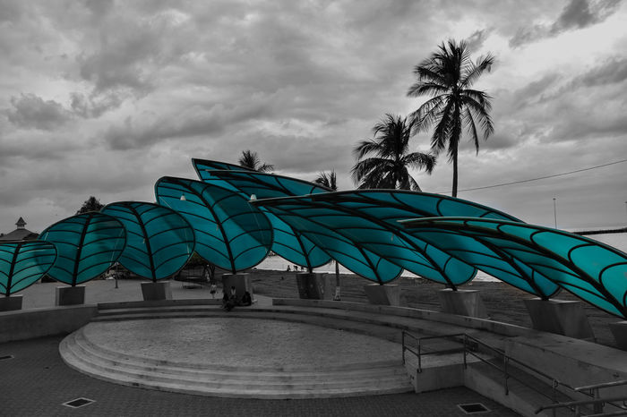 Openair theater in Puntarenas Costa Rica Costa Rica Beaches Costa Rica 🇨🇷 Costa Rica❤ Palm Tree Puntarenas Puntarenas,Costa Rica Architecture Blackandwhite Photography Built Structure Cloud - Sky Day Low Angle View No People Openairtheatre Outdoors Palm Tree Sky