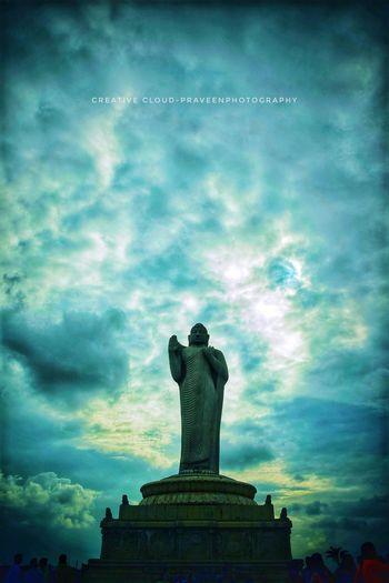 Statue Sculpture City Sky Cloud - Sky