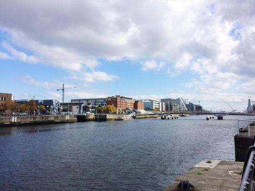 Water Architecture Waterfront Nautical Vessel Built Structure Sky Transportation Building Exterior Cloud Sea Mode Of Transport Cloud - Sky River Day Cloudy Harbor Calm Town Tranquil Scene Nature Dublin Dublin, Ireland Iphone5s IPhoneography