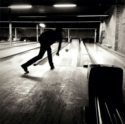 Bowling Time Bowling Oscar Mulero Men Blurred Motion Walking Side View Full Length Motion On The Move Street Person Casual Clothing Underpass City Life Outdoors Outline Blackandwhite Black And White First Eyeem Photo Black & White