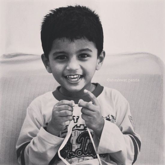 That twinkle of childish mischief in his eyes... 😄 Cute Kid Expression Instapic Bhubaneswar Odisha Canon1100d Blackandwhitephotography Bnw_captures