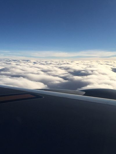 Sea Of ​​clouds On The Plane IPhoneography Iphone6 Tadaa Community Blue Sky