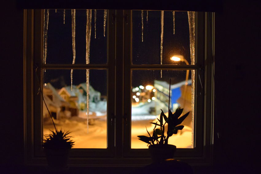 window Cold Cold Temperature Greenland Ice Icetap Icetaps No People Snow Tasiilaq Window View Winter Icicles Icicle