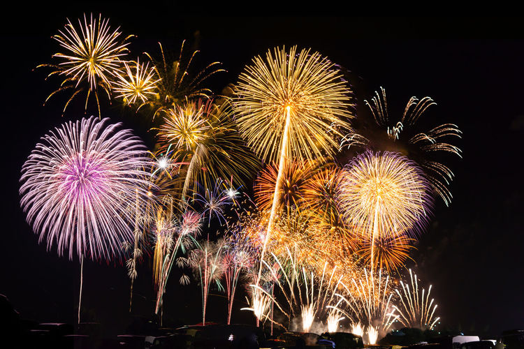 Japan fireworks Japan Photography Japan Scenery Multi Colored Illuminated Motion Arts Culture And Entertainment Firework Display Celebration Firework - Man Made Object Long Exposure Event Exploding Firework Light