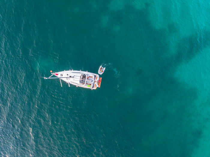 Lonely Boat II Croatia Drone  The Great Outdoors - 2018 EyeEm Awards Aerial Beauty In Nature Boat Holiday Mode Of Transportation Nature Nautical Vessel Outdoors Sea Summer Transportation Travel Trip Vacations Water Yacht