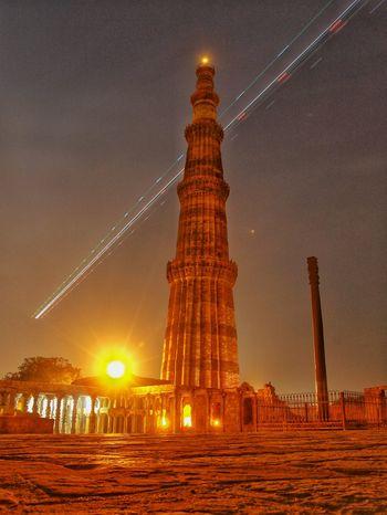 Kutubminar Lighttrails Mehroli Delhi Indianmonument Historical Monuments Famous Place Placetovisit Mustvisitplace Longexposure Longexposurephotography Check This Out