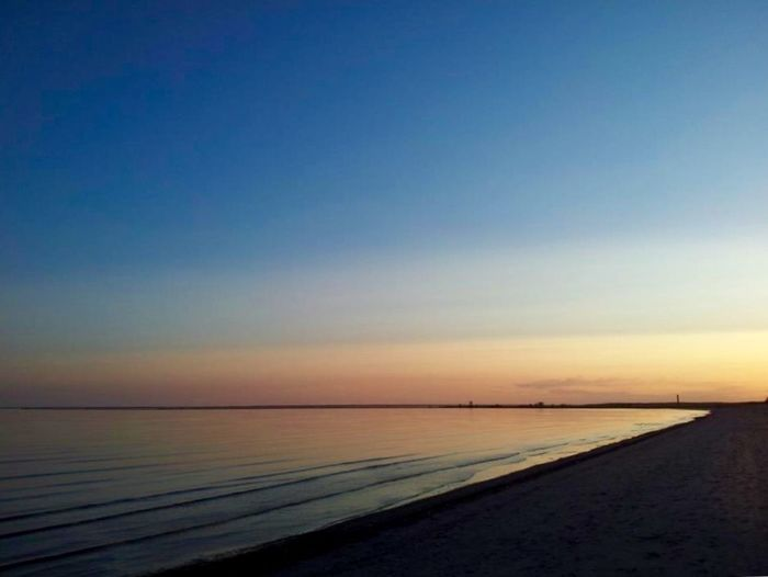 Sea Water Scenics Tranquil Scene Sunset Tranquility Beauty In Nature Nature Horizon Over Water Beach Idyllic Outdoors Sky No People Sand Clear Sky Day