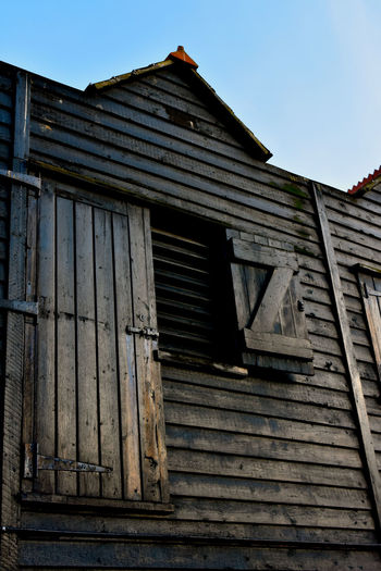 Architecture Building Exterior Built Structure Clear Sky Fishing Fishing Shed Fishing Village Low Angle View No People Outdoor Photography Outdoors Photographer Roof Wooden Texture