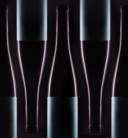 Close-up of beer bottles