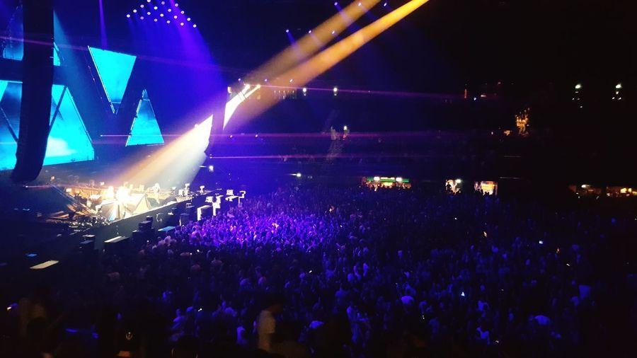 Huge crowd of