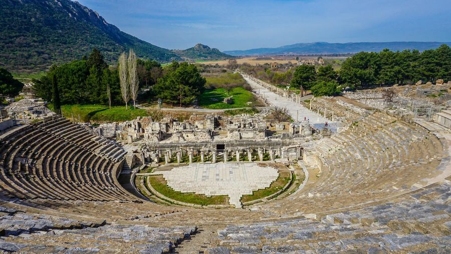 The Great Theatre of Ephesus Ancient Ancient Civilization Ancient History Ancient Theatre Archaeology Architecture Efes Ephesus History Izmir Old Ruin Outdoors Sky Sony A6000 Travel Destinations Turkey Türkiye Winding Road
