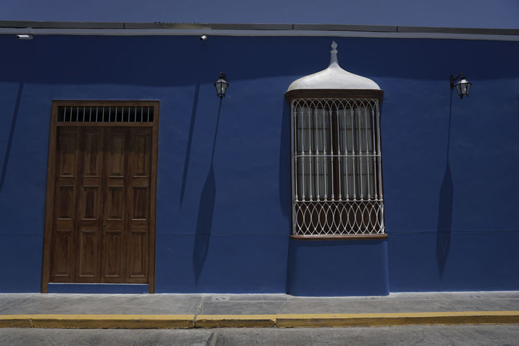 Arquitecture Historical Building Architecture Balconies Blue Colonial Architecture Day No People Viceroy