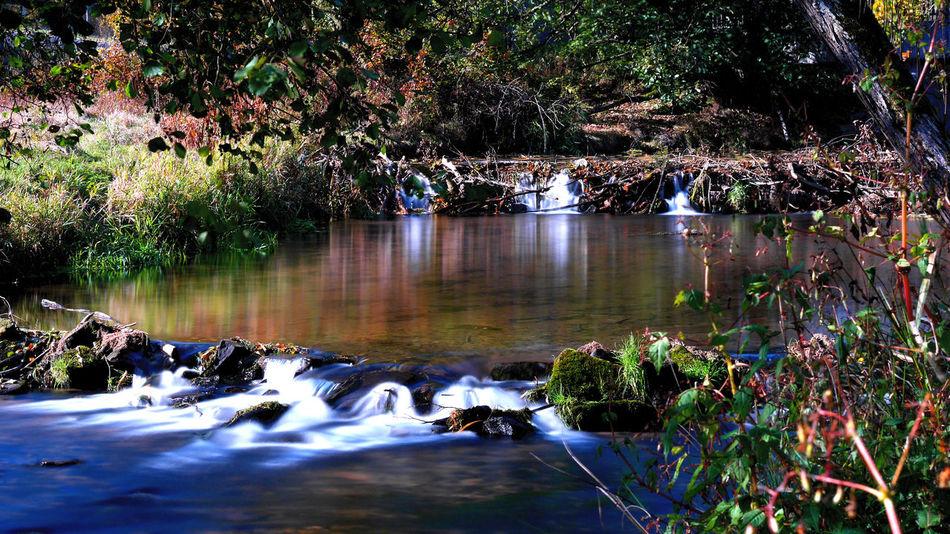 Forellenweg Langzeitbelichtung Fluss Oktober 2018 Polfilter Graufilter Steine