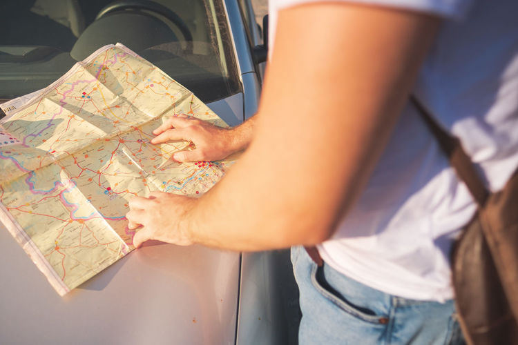 man and maps