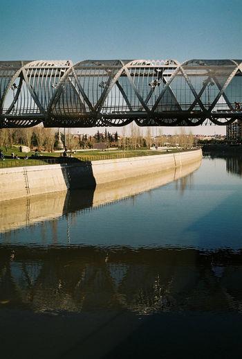 Arganzuela Bridge Dominique Perrault Madrid Río Architecture Bridge Bridge - Man Made Structure No People Park River