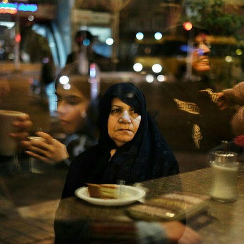Tehran Iran Streetphotography Woman Cafe Xt1 Portrait Reflection Fujifilm