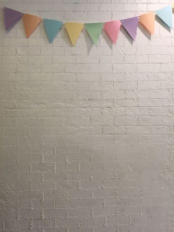 Bricks Wall Celebration Backgrounds Side By Side Bunting