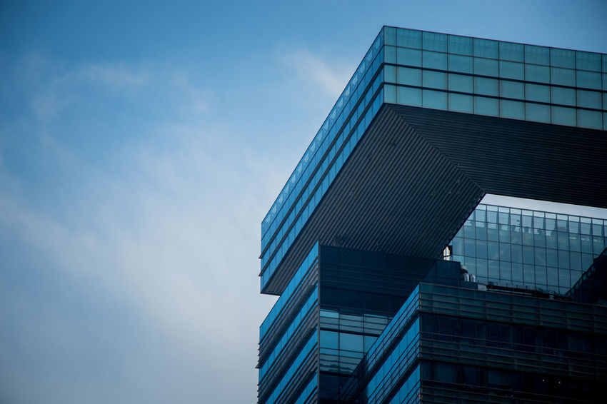 Shanghai Architecture Blue Building Building Exterior Built Structure City Cloud - Sky Day Glass - Material Low Angle View Modern Nature No People Office Office Building Exterior Outdoors Reflection Sky Skyscraper Tall - High