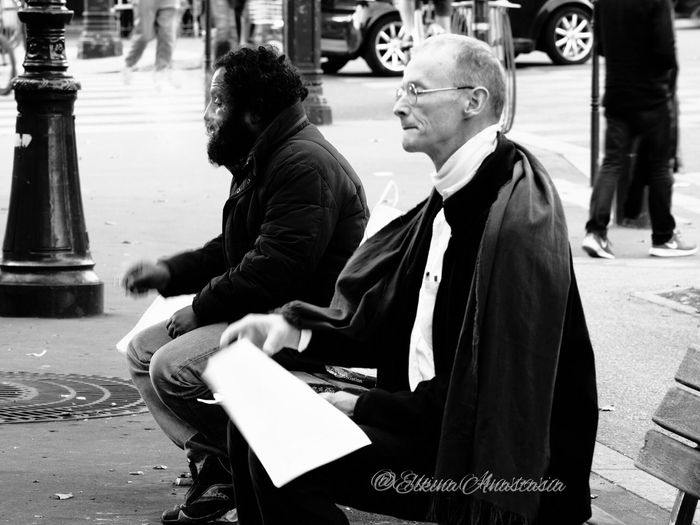 People And Places Lifestyles Street City Person Men EyeEmBestPics Capture The Moment EyeEm Best Shots EyeEm Gallery Outdoor Photography B&w Street Photography B&w Photography Paris, France  Paris The Changing City I Love My City франция Париж
