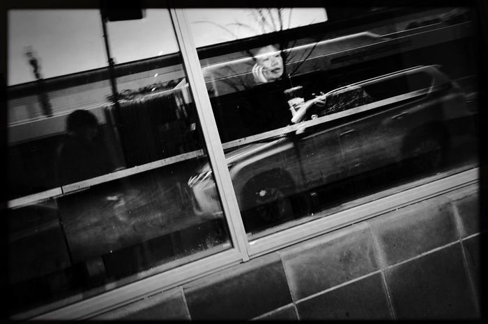 Lazy Saturday coffee on Bryn Mawr Avenue, Chicago. Real People Lifestyles Indoors  Public Transportation Day People Hipstamatic Streetphotography Streetphoto_bw Shootermag The Street Photographer The Street Photographer - 2017 EyeEm Awards