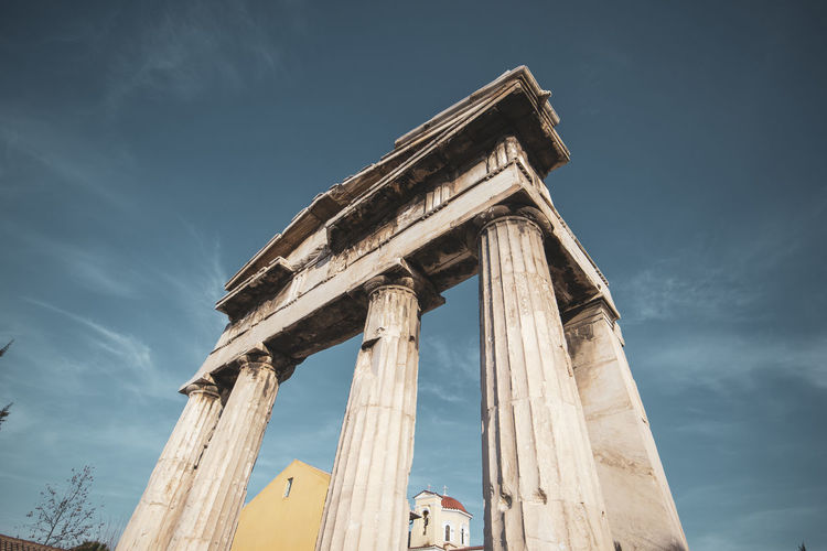 Athens Athens Greece Athens, Greece Sky Architecture History Low Angle View The Past Architectural Column Built Structure Ancient Old Ruin Ancient Civilization Travel Destinations Nature Day Tourism Travel No People Ruined Old Cloud - Sky Archaeology Outdoors