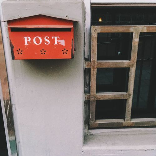 View of mailbox on wall