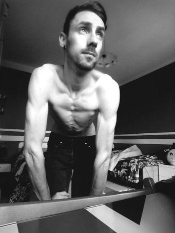 Athlete Muscular Build Portrait