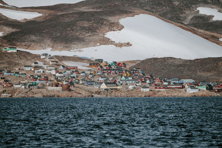 Remote Arctic settlement, Ittoqqortoormiit Greenland Houses Ittoqqortoormiit Remote Location Architecture Arctic Beach Coast Coastal Crowd Day Group Of People Land Large Group Of People Lifestyles Men Mountain Nature Outdoors Real People Scoresby Sound Scoresby Sund Sea Town Transportation Village Water Waterfront