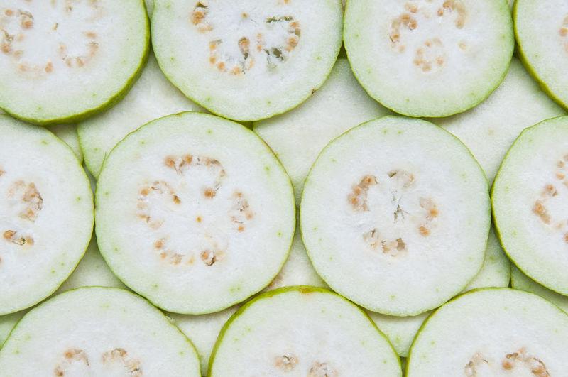 Full frame shot of guava slices