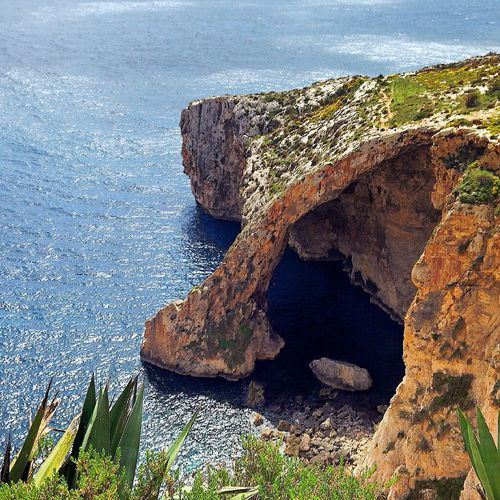 Blue Grotto Sea Enjoying The View Panoramic View Beautiful Place Amazing Places To See Malta Island Nature Walking